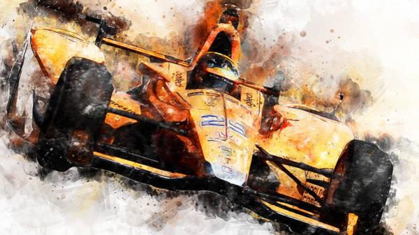 Fernando Alonso, Indy 500 - 04 Art Print