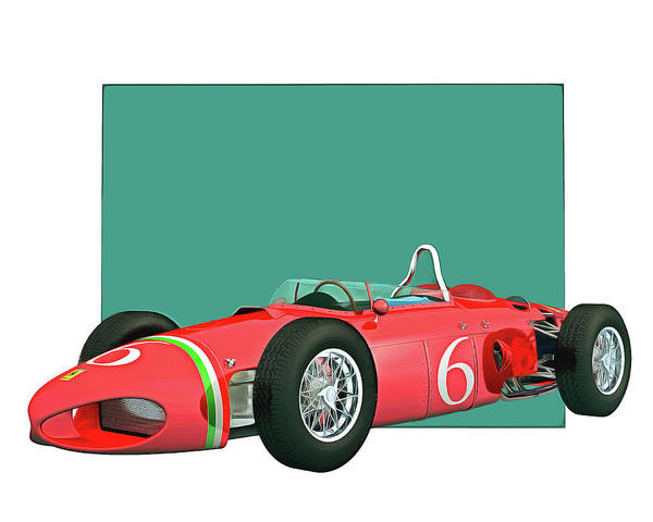 Digital Art - Ferrari 156 Shark Nose 1961 by Jan Keteleer