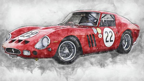 Painting - Ferrari 250 Gto - 15 by Andrea Mazzocchetti