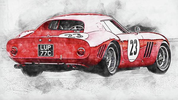 Painting - Ferrari 250 Gto - 17 by Andrea Mazzocchetti