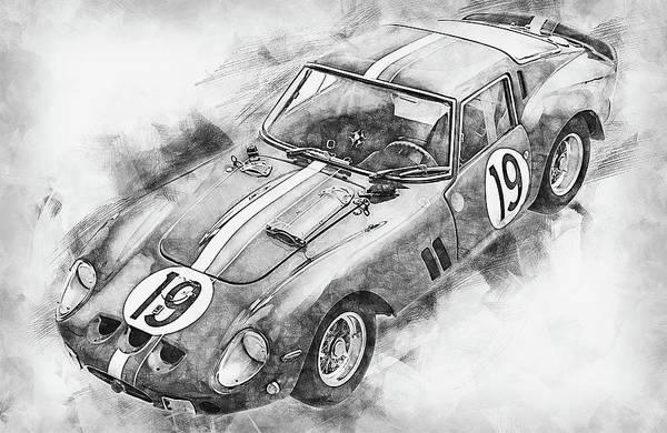 Painting - Ferrari 250 Gto - 19 by Andrea Mazzocchetti