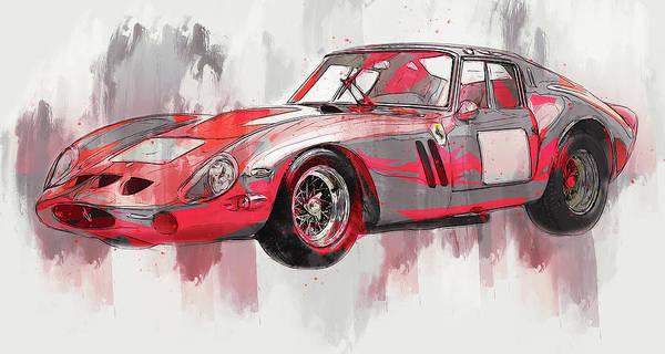 Painting - Ferrari 250 Gto - 21 by Andrea Mazzocchetti