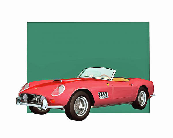 Digital Art - Ferrari 250gt Spider California by Jan Keteleer