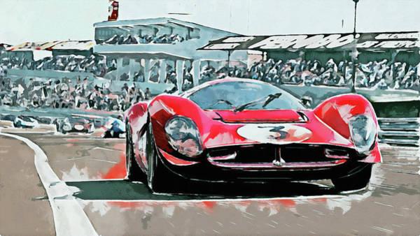 Painting - Ferrari 330 P4 - 25 by Andrea Mazzocchetti
