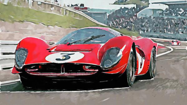 Painting - Ferrari 330 P4 - 26 by Andrea Mazzocchetti