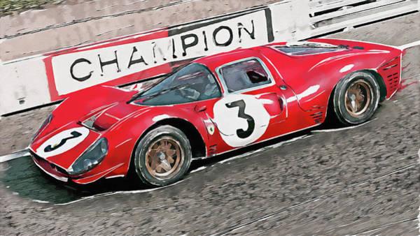 Painting - Ferrari 330 P4 - 27 by Andrea Mazzocchetti
