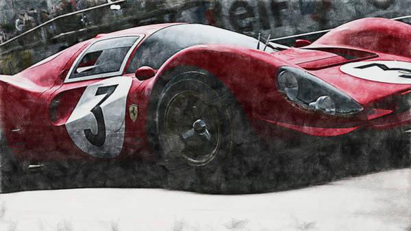 Painting - Ferrari 330 P4 - 28 by Andrea Mazzocchetti