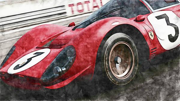 Painting - Ferrari 330 P4 - 29 by Andrea Mazzocchetti