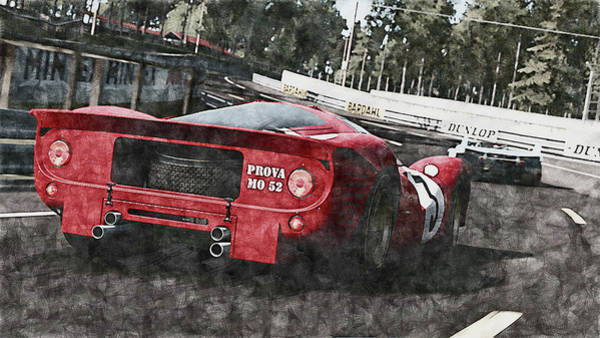 Painting - Ferrari 330 P4 - 30 by Andrea Mazzocchetti