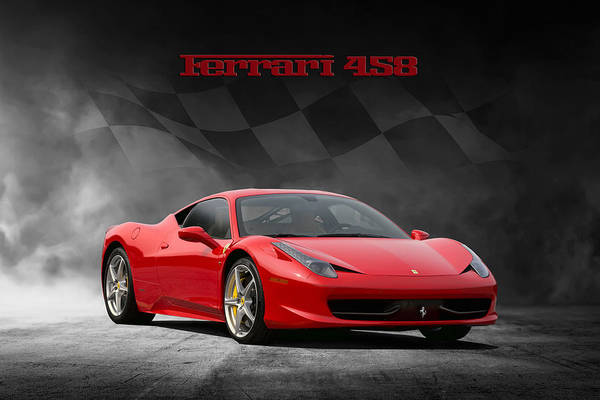 Wall Art - Digital Art - Ferrari 458 by Peter Chilelli