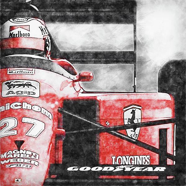 Painting - Ferrari 642 F1 - 04 by Andrea Mazzocchetti