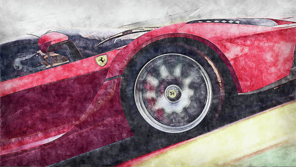 Painting - Ferrari Laferrari - 12 by Andrea Mazzocchetti