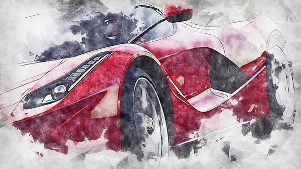 Painting - Ferrari Laferrari - 13 by Andrea Mazzocchetti