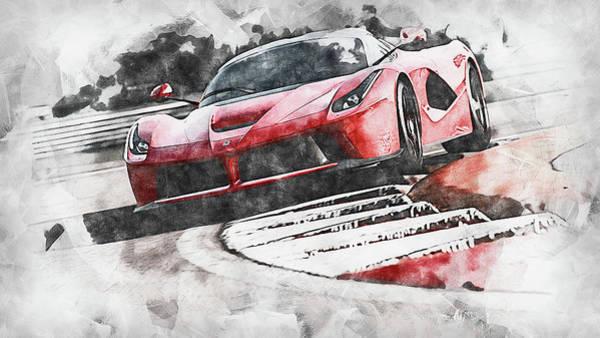 Painting - Ferrari Laferrari - 14 by Andrea Mazzocchetti