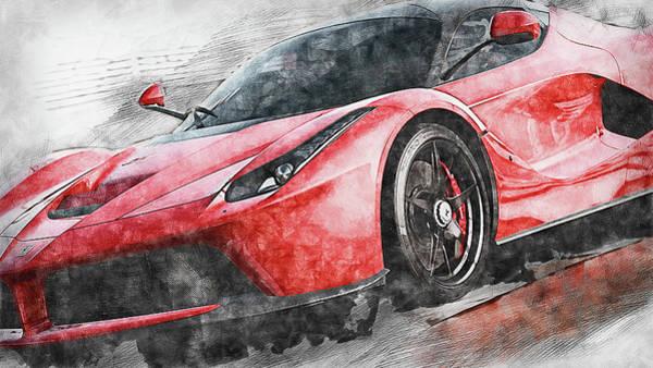 Painting - Ferrari Laferrari - 15 by Andrea Mazzocchetti