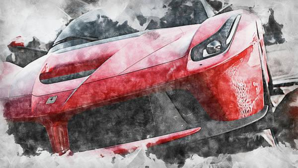 Painting - Ferrari Laferrari - 16 by Andrea Mazzocchetti