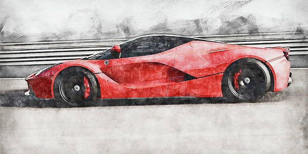 Painting - Ferrari Laferrari - 17 by Andrea Mazzocchetti