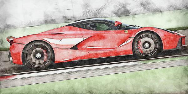 Painting - Ferrari Laferrari - 18 by Andrea Mazzocchetti
