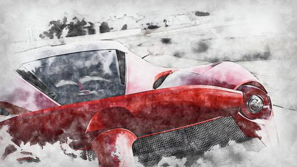 Painting - Ferrari Laferrari - 19 by Andrea Mazzocchetti