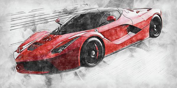 Painting - Ferrari Laferrari - 20 by Andrea Mazzocchetti