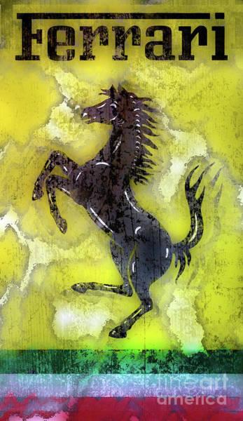 Wall Art - Photograph - Ferrari Painting by Jon Neidert