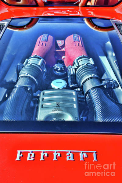 Wall Art - Photograph - Ferrari Power by Paul Ward