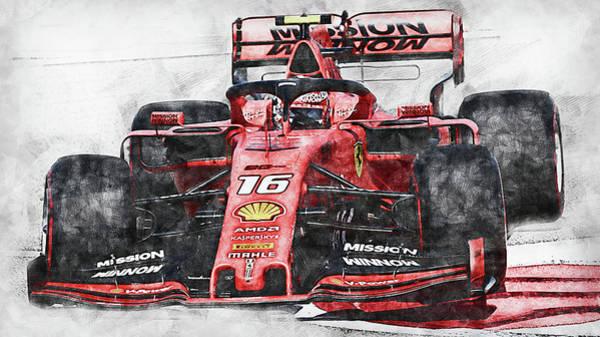 Painting - Ferrari Sf 90 - 39 by Andrea Mazzocchetti