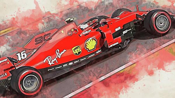 Painting - Ferrari Sf 90 - 41 by Andrea Mazzocchetti