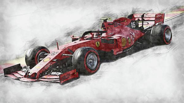 Painting - Ferrari Sf 90 - 42 by Andrea Mazzocchetti