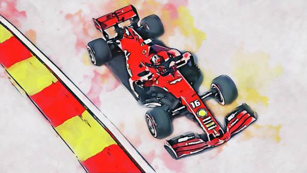 Painting - Ferrari Sf 90 - 43 by Andrea Mazzocchetti