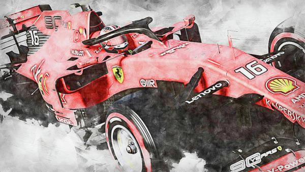 Painting - Ferrari Sf 90 - 44 by Andrea Mazzocchetti