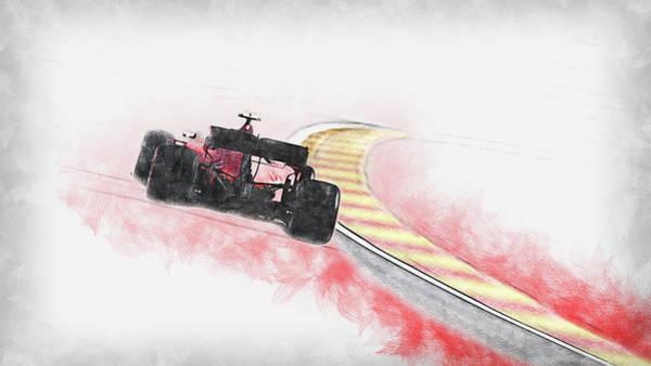 Painting - Ferrari Sf 90 - 45 by Andrea Mazzocchetti