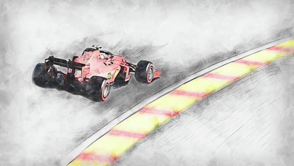 Painting - Ferrari Sf 90 - 46 by Andrea Mazzocchetti