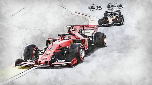 Painting - Ferrari Sf 90 - 49 by Andrea Mazzocchetti