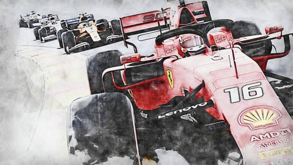 Painting - Ferrari Sf 90 - 50 by Andrea Mazzocchetti