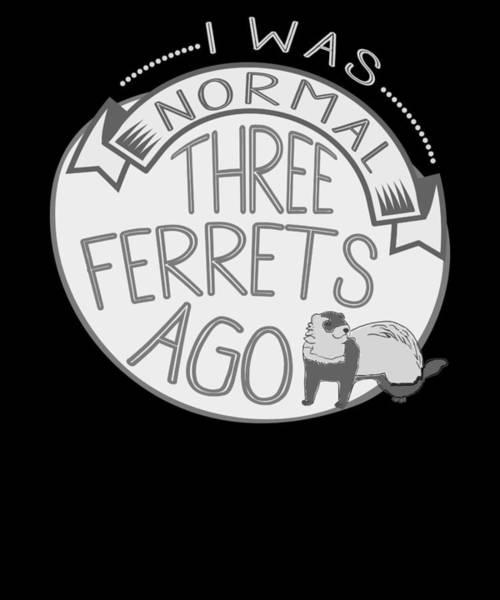 Ferrets Drawing - Ferret Lover I Was Normal 3 Ferrets Ago by Kanig Designs