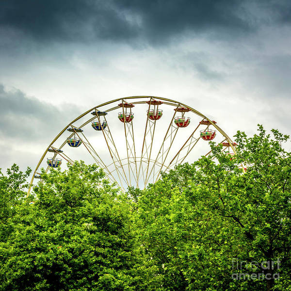 Wall Art - Photograph - Ferris Wheel Behind Trees by Bernard Jaubert