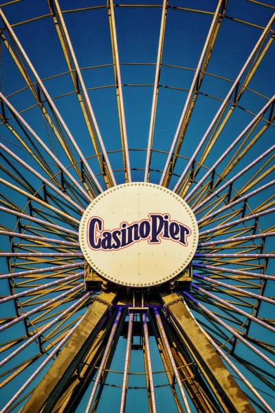 Photograph - Ferris Wheel Casino Pier  by Susan Candelario