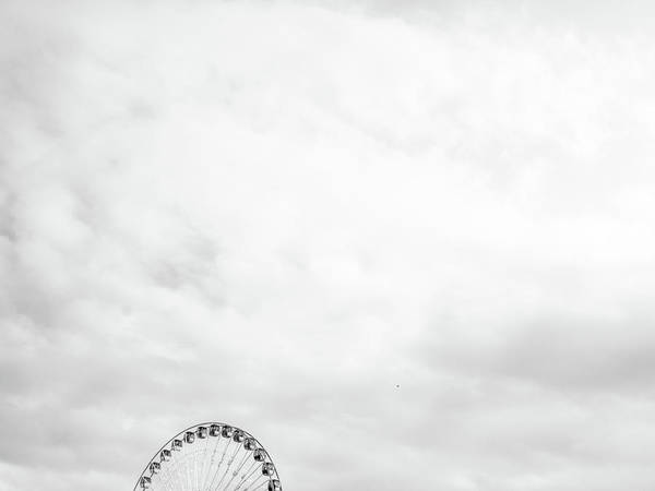 Photograph - Ferris Wheel Clouds by Whitney Leigh Carlson