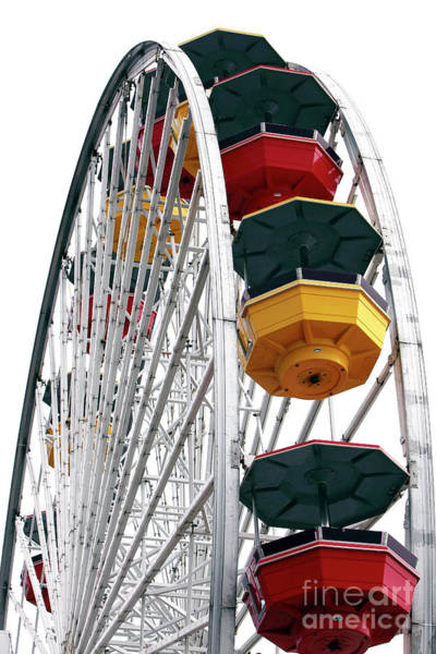 Wheels Photograph - Ferris Wheel Colors At Pacific Park Santa Monica by John Rizzuto