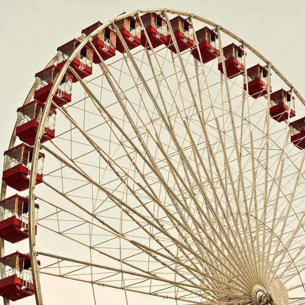 Usa Navy Photograph - Ferris Wheel Front Light by Kendall Mcminimy