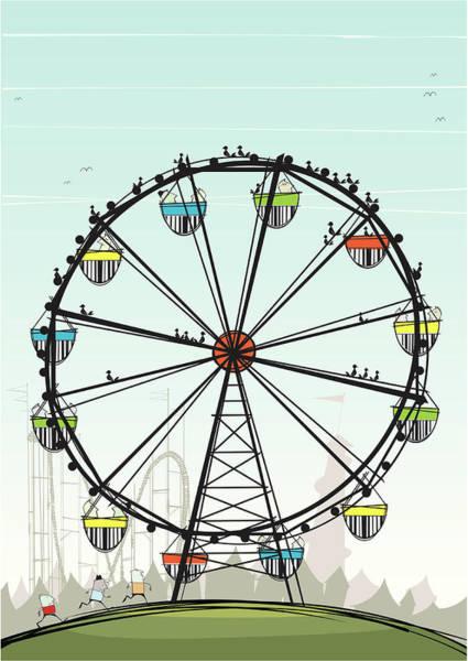 Digital Art - Ferris Wheel by Jcgwakefield