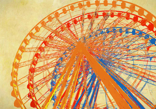Mixed Media - Ferris Wheel Multicolored by Dan Sproul