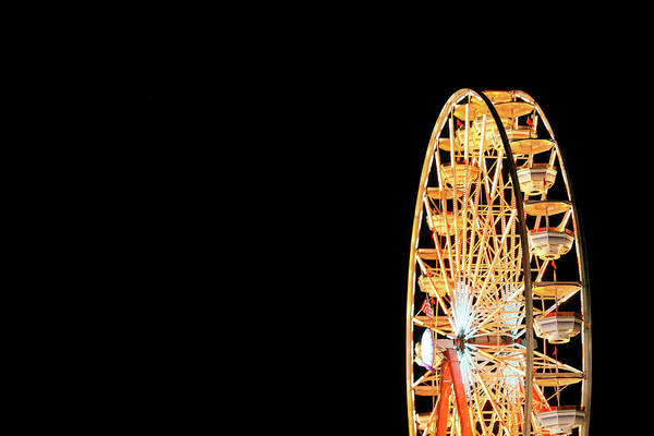 Wall Art - Photograph - Ferris Wheel On Black by Todd Klassy