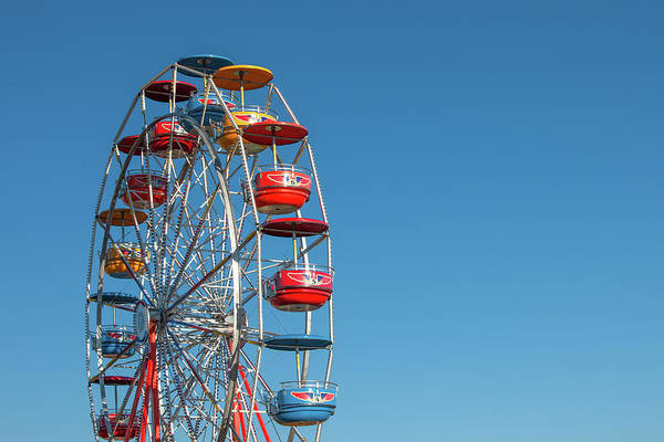 County Fair Wall Art - Photograph - Ferris Wheel On Blue by Todd Klassy