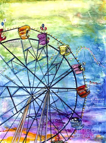 Wall Art - Painting - Ferris Wheel Play by Patty Donoghue