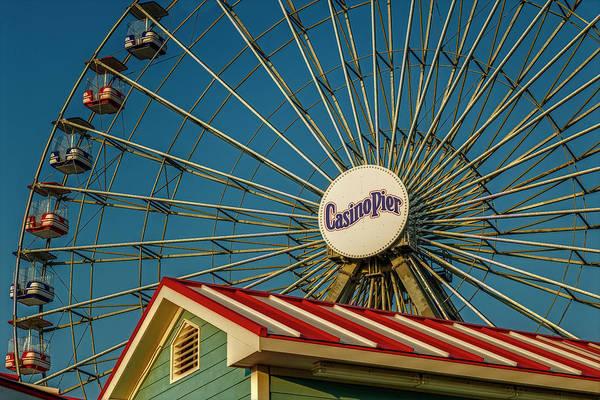 Photograph - Ferris Wheel Seaside Boardwalk by Susan Candelario