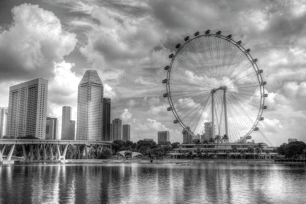 Wall Art - Photograph -  Ferris Wheel Singapore by David Pyatt