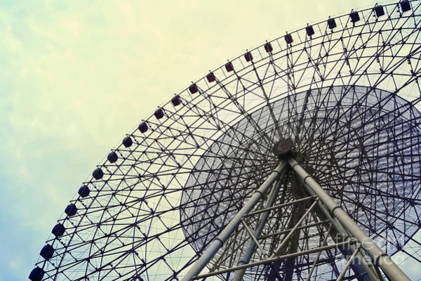 Circular Wall Art - Photograph - Ferris Wheel With Sky Background by Chuyuss