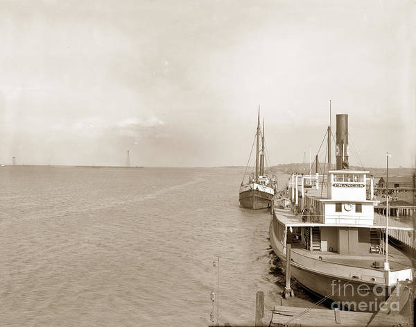 Photograph - Ferry Boat Frances And Steam Schooner Arctic At Antioch Waterfro by California Views Archives Mr Pat Hathaway Archives